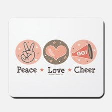 Peace Love Cheer Cheerleader Mousepad
