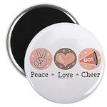 Peace Love Cheer Cheerleader Magnet
