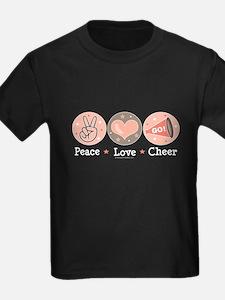 Peace Love Cheer Cheerleader T