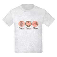 Peace Love Cheer Cheerleader T-Shirt