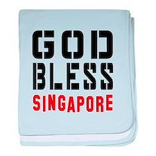 God Bless Singapore baby blanket