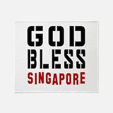 God Bless Singapore Throw Blanket