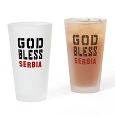 God Bless Serbia Drinking Glass