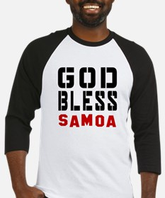 God Bless Samoa Baseball Jersey