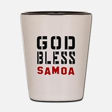 God Bless Samoa Shot Glass