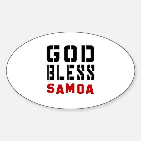 God Bless Samoa Sticker (Oval)