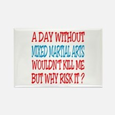 A day without Mixed Martial Arts Rectangle Magnet