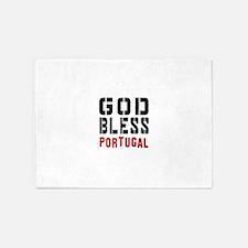 God Bless Portugal 5'x7'Area Rug