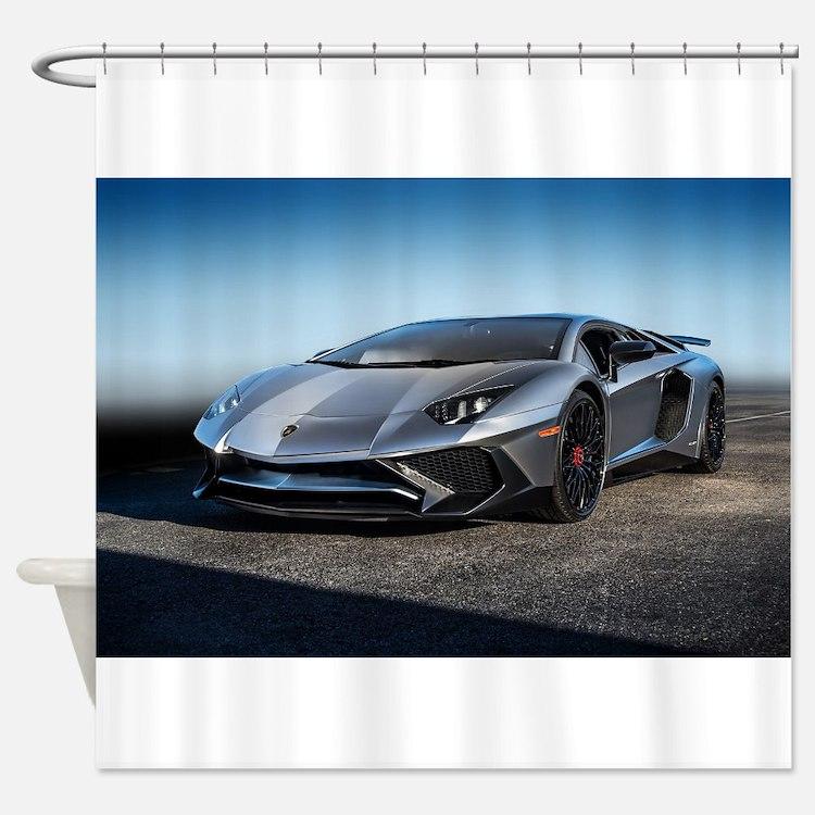 Lamborghini Shower Curtains | Lamborghini Fabric Shower Curtain Liner