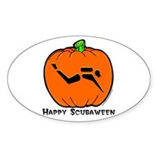 Pumpkin Diver Oval Decal
