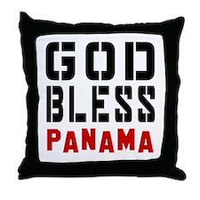 God Bless Panama Throw Pillow