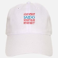 A day without Iaido Baseball Baseball Cap