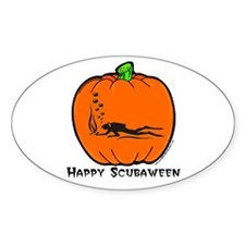 Scubaween Oval Decal