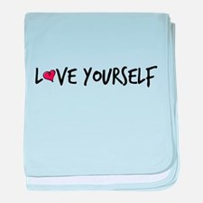 Love Yourself baby blanket