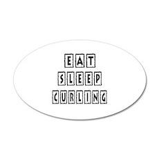 Eat Sleep Curling Wall Decal