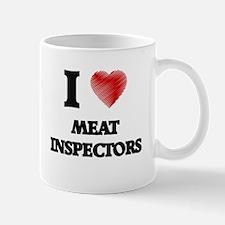 I Love Meat Inspectors Mugs