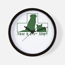 Cute Save a life adopt Wall Clock