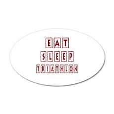 Eat Sleep Triathlon Wall Decal