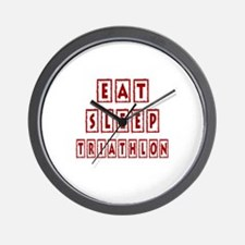 Eat Sleep Triathlon Wall Clock