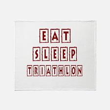Eat Sleep Triathlon Throw Blanket