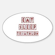 Eat Sleep Triathlon Decal