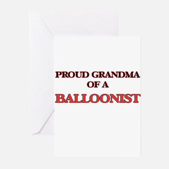 Proud Grandma of a Balloonist Greeting Cards
