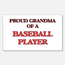 Proud Grandma of a Baseball Player Decal