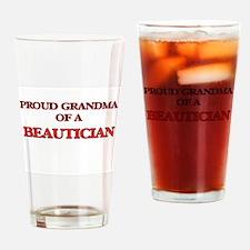 Proud Grandma of a Beautician Drinking Glass