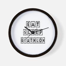 Eat Sleep Biathlon Wall Clock