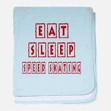 Eat Sleep Speed Skating baby blanket