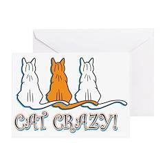 Cat Crazy Greeting Card
