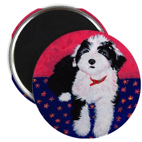 Old English Sheepdog Puppy ~ Magnet