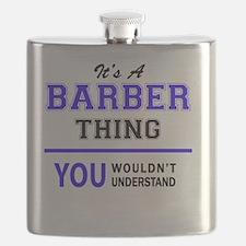 Cute Barber Flask