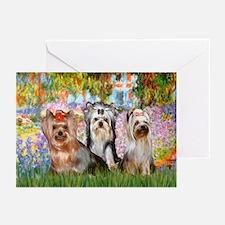Monet's Garden & Yorkie Trio Greeting Cards (Packa