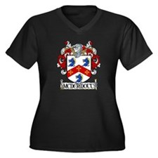 McDermott Coat of Arms Women's Plus Size V-Neck Da