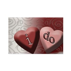 I Do Candy Heart Rectangle Magnet (100 pack)