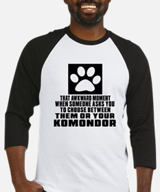 Komondor Awkward Dog Designs Baseball Jersey