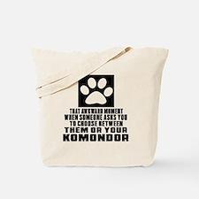 Komondor Awkward Dog Designs Tote Bag
