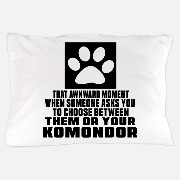 Komondor Awkward Dog Designs Pillow Case