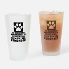 Komondor Awkward Dog Designs Drinking Glass
