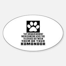 Komondor Awkward Dog Designs Decal