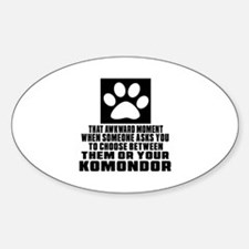 Komondor Awkward Dog Designs Sticker (Oval)