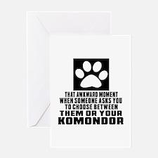 Komondor Awkward Dog Designs Greeting Card