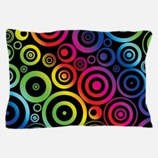Colorful Circles Pillow Case