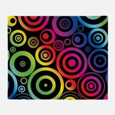 Colorful Circles Throw Blanket