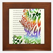 Cute Shadow poetry Framed Tile