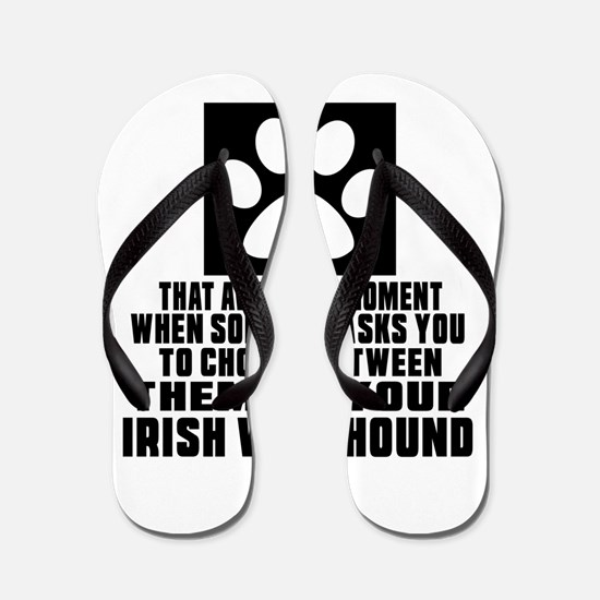 Irish Wolfhound Awkward Dog Designs Flip Flops