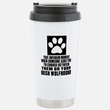 Irish Wolfhound Awkward Travel Mug