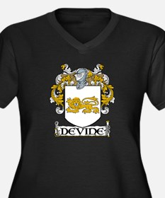 Devine Coat of Arms Women's Plus Size V-Neck Dark