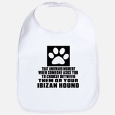 Ibizan Hound Awkward Dog Designs Bib